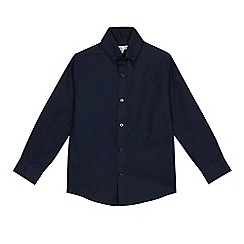 RJR.John Rocha - Boys' navy textured double collar shirt