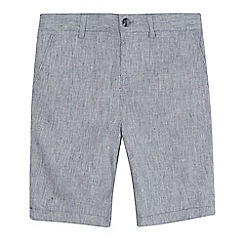 RJR.John Rocha - 'Boys' navy textured linen blend shorts