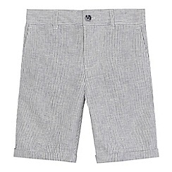 RJR.John Rocha - Boys' grey striped linen blend shorts