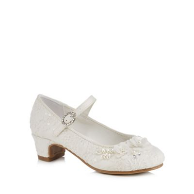 RJR.John Rocha - Girls' ivory lace bead embellished heeled shoes