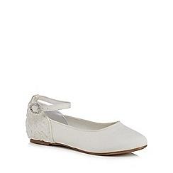 RJR.John Rocha - Girls' ivory floral heel pumps