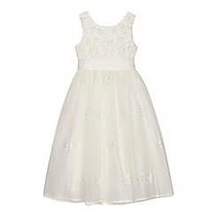 RJR.John Rocha - 'Girls' ivory floral embroidered tulle dress