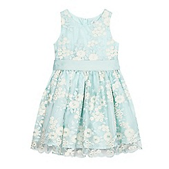 RJR.John Rocha - 'Girls' light green floral embellished lace dress