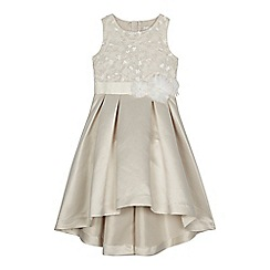 RJR.John Rocha - Girls' gold satin sequinned dress