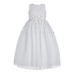 RJR.John Rocha - Girls' white floral embellished dress