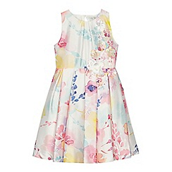 RJR.John Rocha - 'Girls' multi-coloured floral print satin dress
