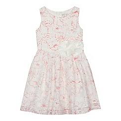 RJR.John Rocha - 'Girls' white poppy print prom dress