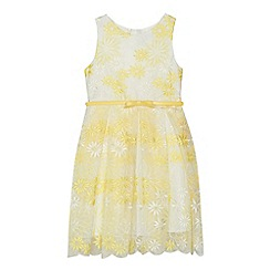 RJR.John Rocha - 'Girls' yellow floral embroidered prom dress