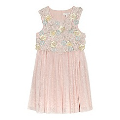 RJR.John Rocha - 'Girls' pink floral applique tulle dress