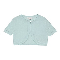 RJR.John Rocha - 'Girls' green short sleeve cropped cardigan