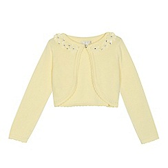 RJR.John Rocha - 'Girls' yellow flower applique long sleeve cardigan