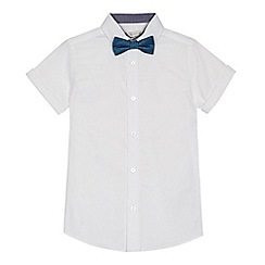 RJR.John Rocha - 'Boys' white short sleeve Oxford shirt and bow tie set