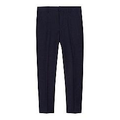 John Rocha -  Boys  navy birdseye slim fit trousers 3d694a708b27
