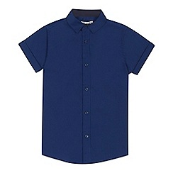 RJR.John Rocha - Boys' navy short sleeve shirt