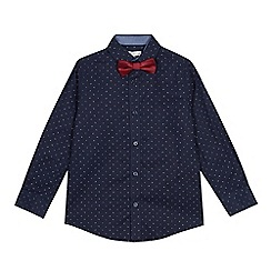 RJR.John Rocha - Boys' navy printed shirt with a bow tie