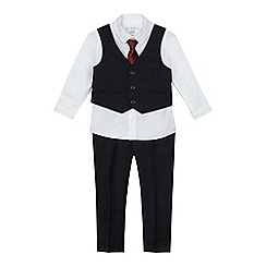 RJR.John Rocha - 'Boys' navy checked print waistcoat, suit and trousers set