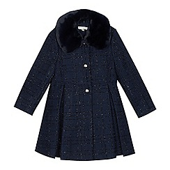 RJR.John Rocha - Girls' Navy Sparkle Check Coat