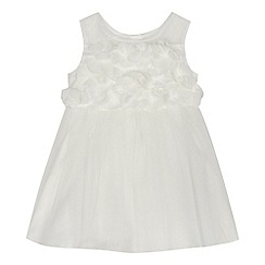 RJR.John Rocha - 'Baby girls' ivory floral applique dress