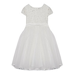 RJR.John Rocha - 'Girls' ivory floral applique dress