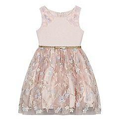 RJR.John Rocha - Girls' pink flower embellished dress