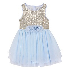 RJR.John Rocha - 'Girls' light blue embellished rara dress