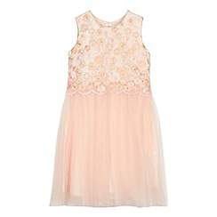 RJR.John Rocha - Girls' light pink embroidered floral dress