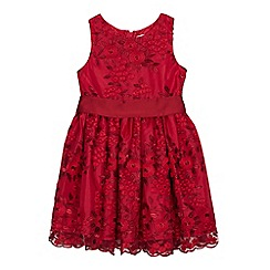 RJR.John Rocha - Girls' Red Embroidered Lace Dress
