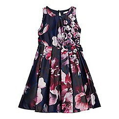 RJR.John Rocha - Girls' multi-coloured floral print sateen dress