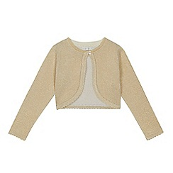 RJR.John Rocha - 'Girls' gold long sleeve cardigan