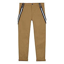RJR.John Rocha - Boys' light tan brace chino trousers