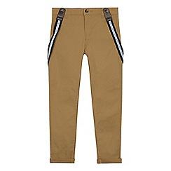 RJR.John Rocha - Boys' light tan brace chino trousers