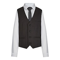 RJR.John Rocha - Designer boy's grey pin dot slim fit waistcoat, shirt and tie set