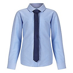 RJR.John Rocha - Designer boy's light blue oxford shirt and tie