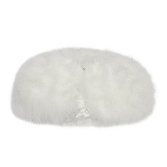 Occasions - Girls' Ivory Feather Marabou Cape
