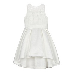 Occasions - Girls' Ivory Floral Applique Dress
