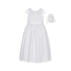 Occasions - Girls' Floral Lace Dress with Bag