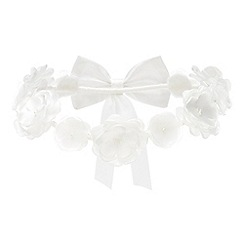 Occasions - Girls' Ivory Flower Garland Headband
