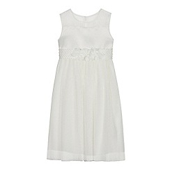 Occasions - Girls' Ivory Pleated Corsage Dress