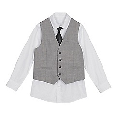 Occasions - Boys' Grey Waistcoat, Shirt and Tie Set