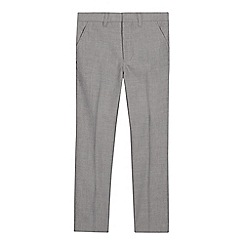 Occasions - Boys' Grey Textured Slim Fit Trousers