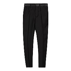 Occasions - Boys' Black Slim Fit Tuxedo Trousers