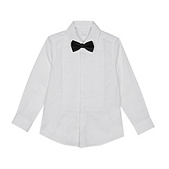 Occasions - Boys' White Tuxedo Shirt with Bow Tie