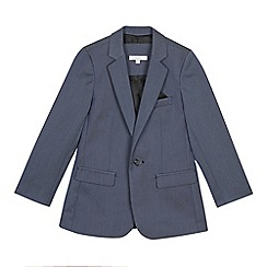 Occasions - Boys' blue textured jacket