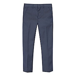 Occasions - Boys' Blue Textured Slim Fit Trousers