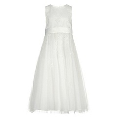 RJR.John Rocha - Girls' ivory floral embroidered dress
