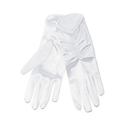 J by Jasper Conran - White ruched gloves
