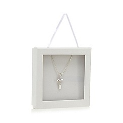 RJR.John Rocha - Silver plated cross pendant necklace