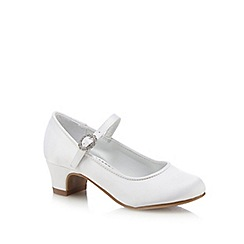 RJR.John Rocha - Girls' diamante buckled heeled shoes