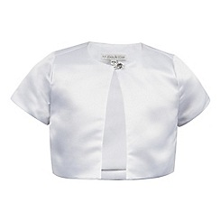 RJR.John Rocha - Girls' white satin bolero