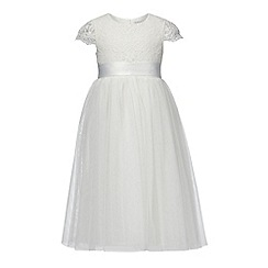 RJR.John Rocha - Girls' ivory lace bodice dress
